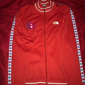 North face & addida zip up jacket